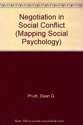 9780335098668: Negotiation in Social Conflict (Mapping Social Psychology)