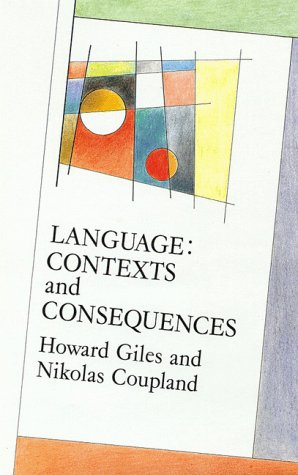 9780335098729: Language: Contexts and Consequences