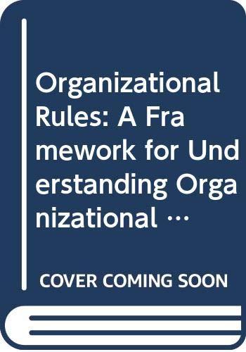 9780335099085: Organizational Rules: A Framework for Understanding Organizational Action
