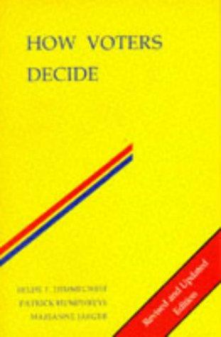 9780335105915: HOW VOTERS DECIDE