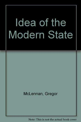 9780335150212: Idea of the Modern State