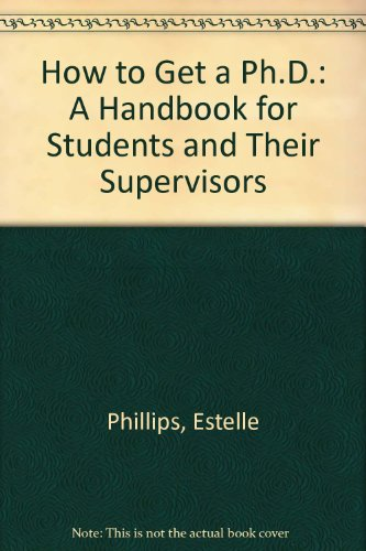 9780335155378: How to Get a Ph.D.: A Handbook for Students and Their Supervisors
