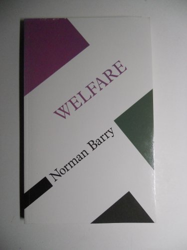 9780335155958: Welfare: Concepts in the Social Sciences