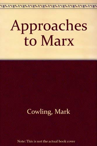 9780335156221: Approaches to Marx