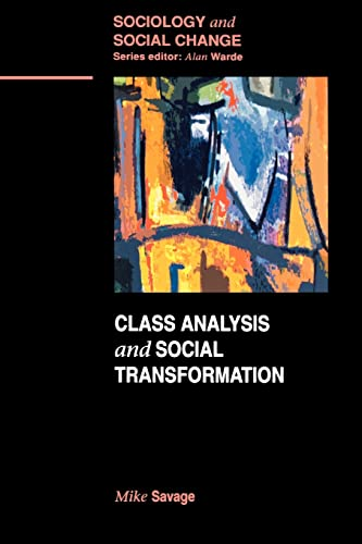 9780335193271: Class Analysis and Social Transformation