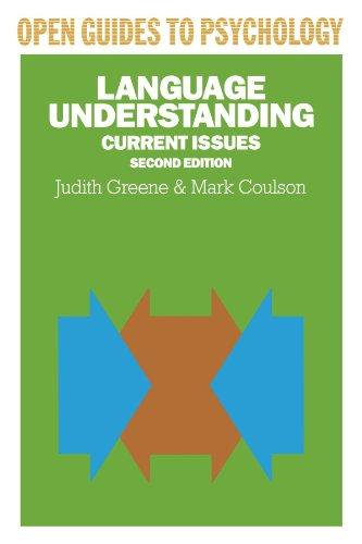 Language Understanding (Open Guides to Psychology): Greene, Judith