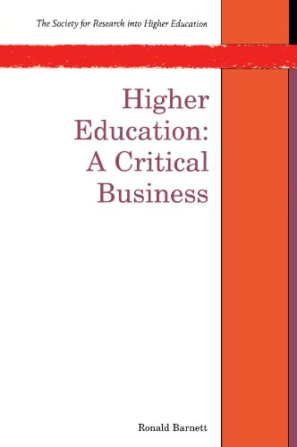 9780335197033: Higher Education: A Critical Business (Society for Research Into Higher Education)