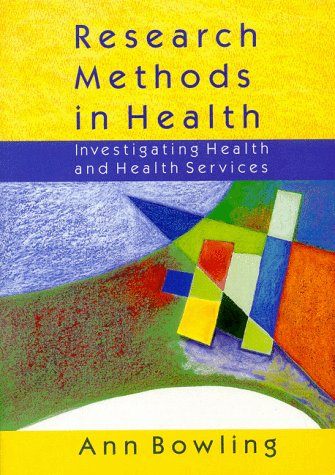9780335198856: Research Methods in Health: Investigating Health and Health Services