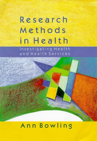 9780335198863: Research Methods in Health: Investigating Health and Health Services