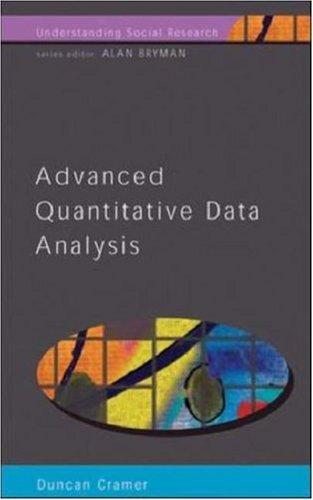 9780335200627: Advanced Quantative Data Analysis (Understanding Socialresearch)