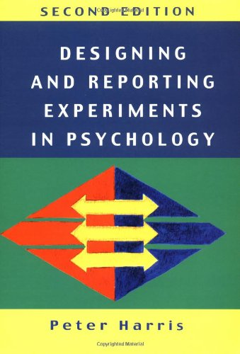 9780335201464: Designing and Reporting Experiments in Psychology (Open Guides to Psychology)