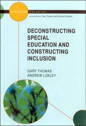 9780335204496: Deconstructing Special Education and Constructing Inclusion (Studies in Inclusive Education)