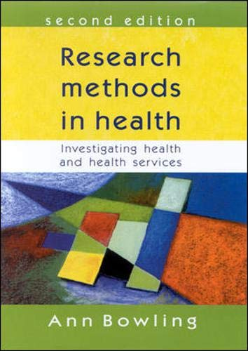 9780335206438: Research Methods in Health: Investigating Health and Health Services