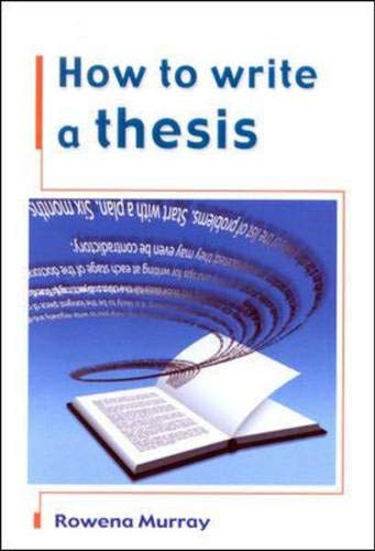 9780335207183: How to Write a Thesis