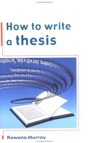 9780335207190: How to Write a Thesis
