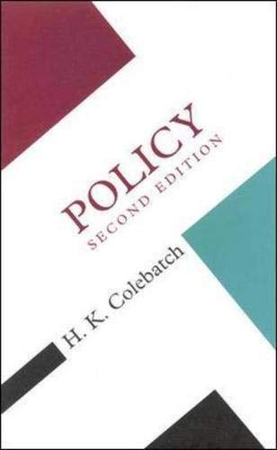 9780335209712: Policy (Concepts in the Social Sciences)