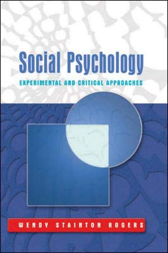 9780335211272: Social Psychology: Experimental and Critical Approaches