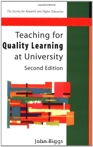 9780335211685: Teaching For Quality Learning at University (Society for Research into Higher Education)