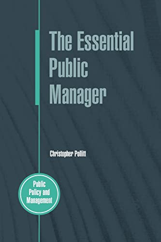 9780335212323: The Essential Public Manager (Public Policy and Management)