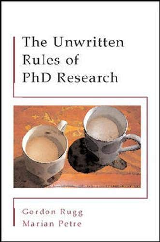 9780335213443: The Unwritten Rules of PhD Research (Study Skills)