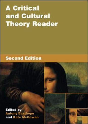 9780335213566: A Critical and Cultural Theory Reader