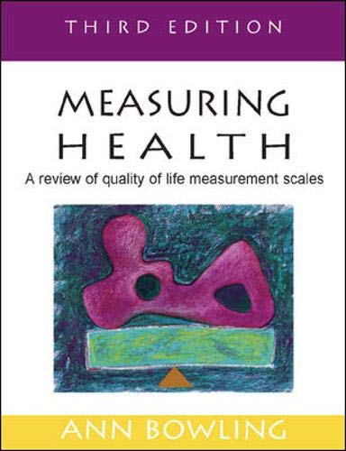 9780335215287: Measuring Health: A Review of Quality of Life Measurement Scales