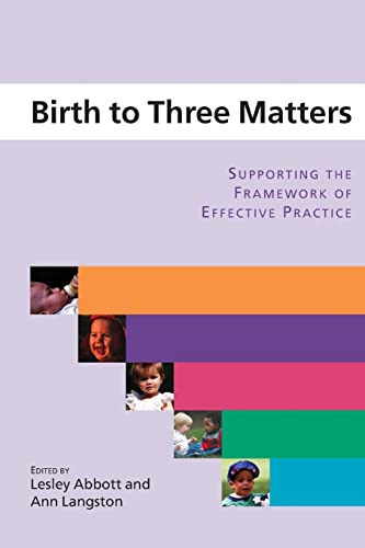 birth three matters framework Birth to three matters-play activities for under 3's linked to national standard 3/enjoying and achieving target audience: under 3's staff at day nurseries, pre-schools, childminders & creches aims of course: to review current play themes/topics.