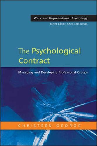 9780335216130: The Psychological Contract: Managing and Developing Professional Groups (Work Organizational Psychology)