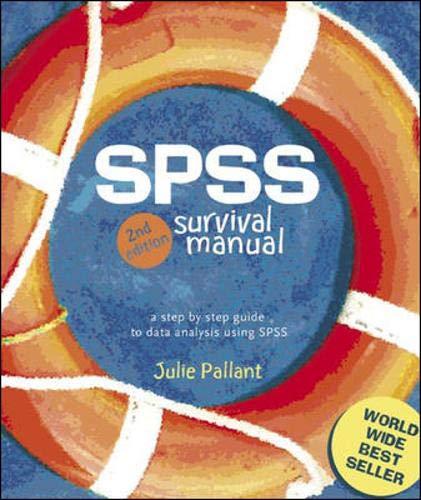 9780335216406 spss survival manual abebooks julie pallant rh abebooks com spss survival manual 6ed spss survival manual 6ed