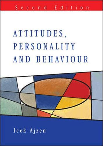 9780335217045: Attitudes, Personality And Behaviour (Mapping Social Psychology)
