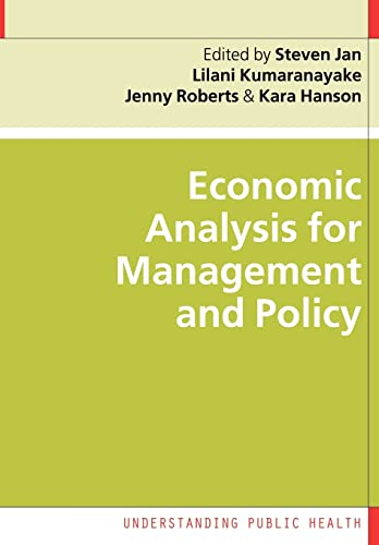 9780335218462: Economic Analysis for Management and Policy (Understanding Public Health)