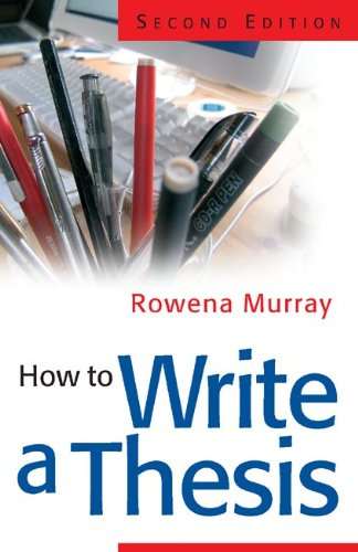 9780335219681: How to Write a Thesis