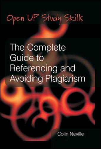 9780335220908: The Complete Guide to Referencing and Avoiding Plagarism (Open Up Study Skills)