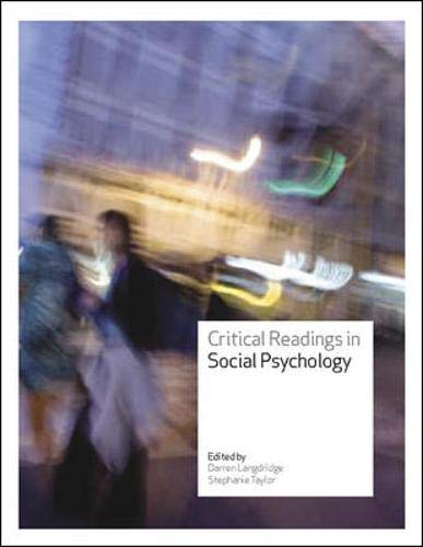 9780335221066: Critical Readings in Social Psychology