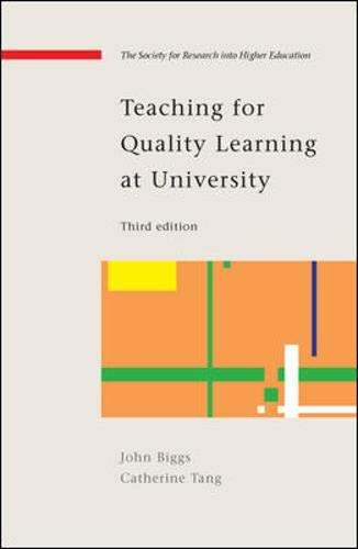 9780335221271: Teaching for Quality Learning (Society for Research into Higher Education)