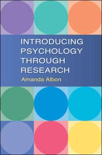 9780335221356: Introducing Psychology Through Research