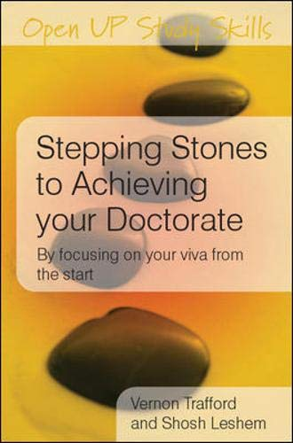 9780335225422: Stepping Stones to Achieving your Doctorate (Open Up Study Skills)