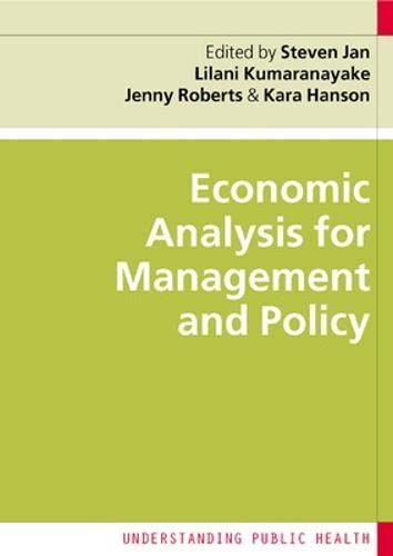 9780335225934: Economic Analysis for Management and Policy