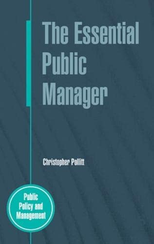 9780335227471: The Essential Public Manager