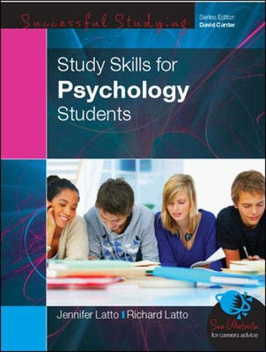 Study Skills for Psychology Students (Skills for Successful Studying): Latto, Richard; Latto, ...