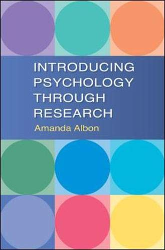 9780335229444: Introducing Psychology Through Research