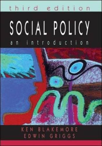 Social Policy (9780335229529) by Ken Blakemore; Edwin Griggs