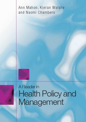 9780335233670: A Reader in Health Policy and Management