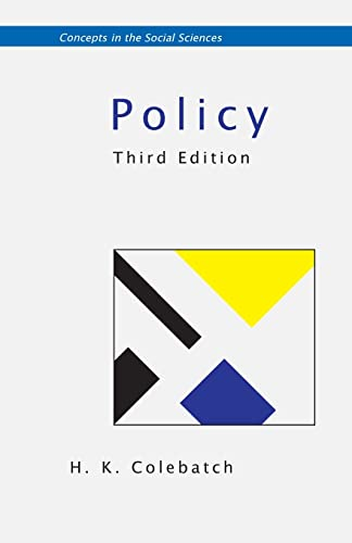 9780335235407: Policy (Concepts in the Social Sciences)