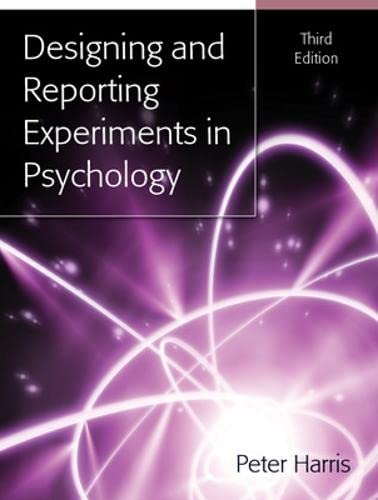 9780335235483: Designing and Reporting Experiments in Psychology