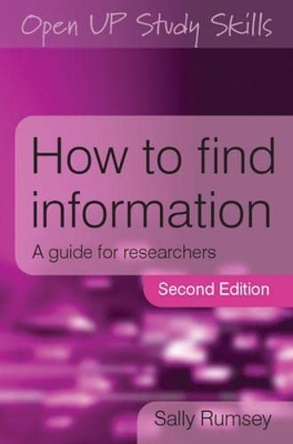 9780335235544: How to Find Information: A Guide for Researchers