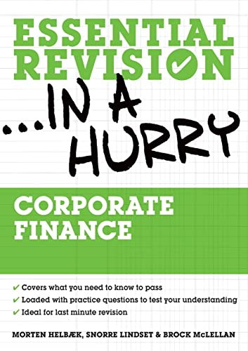 9780335236664: Corporate finance (Essential Revision in a Hurry)