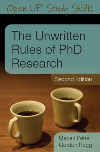 9780335237029: The Unwritten Rules of PhD Research (Open Up Study Skills)