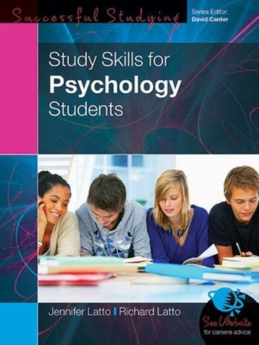 9780335237197: Study Skills for Psychology Students