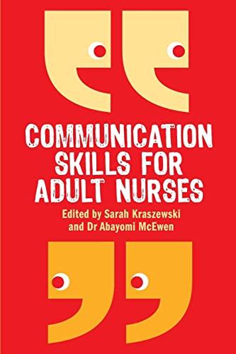 9780335237487: Communication Skills for Adult Nurses
